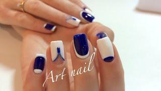 getlinkyoutube.com-Лунный Маникюр! Дизайн Гель-Краской! Маникюр с Бульонками! Nail Art Designs (Caviar Nails DIY)