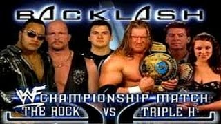 The Rock vs Triple H l Backlash 2000 l Combates WWE