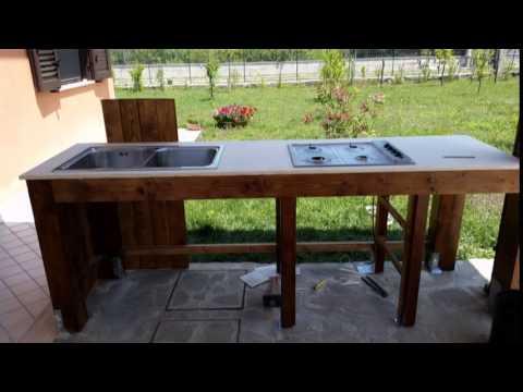 Come realizzare una cucina in giardino tutto per casa - Cucine fai da te in legno ...
