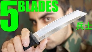 5 AWESOME FIXED BLADE Knives under $40!