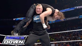 getlinkyoutube.com-Brock Lesnar, Dean Ambrose and The Wyatt Family all go to war: SmackDown, March 24, 2016