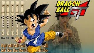 getlinkyoutube.com-Dragon Ball GT OPENING (Mi corazon encantado) en Flauta Dulce - Con notas explicadas!