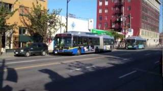 getlinkyoutube.com-Articulated Buses & Trolley Bus on Broadway-Vancouver Bus Transit
