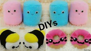 getlinkyoutube.com-3 Room Decor DIYs: DIY Cat Donut plush+DIY Sushi Plush+DIY Marshmallow Plush + Cheap Haul