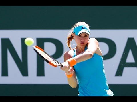 BNP Paribas Open 2017: Kristina Mladenovic vs. Caroline Wozniacki | Highlights