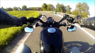 getlinkyoutube.com-Test drive Highway 2016 Harley-Davidson Forty eight XL1200X