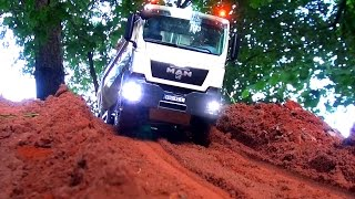 getlinkyoutube.com-AWESOME RC TRUCK Moments! MAN! MB Arocs! Scania! ScaleART! Wedico! Tipper! Hook-lifter! Transport!