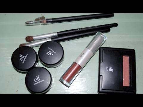 Natural Look - Using E.L.F Products + Review