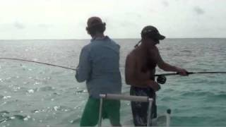 Doubled up on Tarpon, Cuba 2010.mov