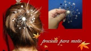 getlinkyoutube.com-flor de alambre,perlas y swarosky para moño de bailarina