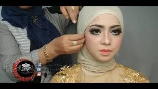 tutorial hijab pengantin ala barbie imut tren 2018 width=
