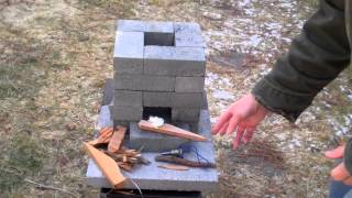 getlinkyoutube.com-How to build a better brick rocket stove for $10
