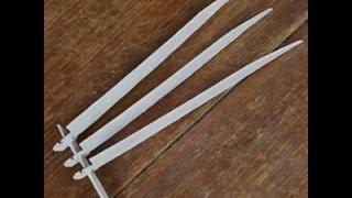 Как сделать когти Росомахи из бумаги