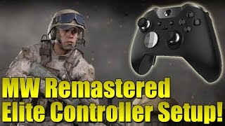 getlinkyoutube.com-Modern Warfare Remastered Xbox One Elite Controller Best Setup!  My Settings!