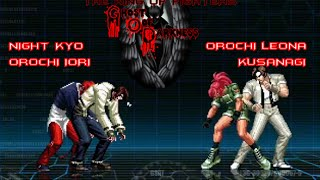 getlinkyoutube.com-KOF GOD - (Night Kyo - Orochi Iori VS Orochi Leona - Kusanagi)