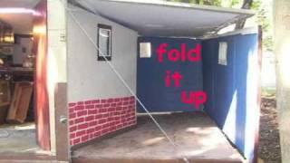 getlinkyoutube.com-portable house   Homemade camper  RV  bug out trailer