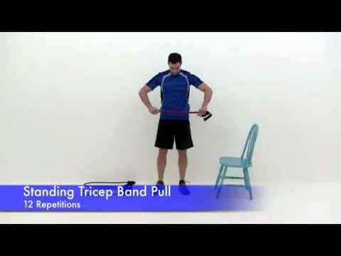 16 Minute Bicep & Tricep Super Set Workout Resistance Band Exercises