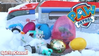 getlinkyoutube.com-PAW PATROL Toys in Paw Patroller with Surprise Eggs Stuck & Everest Saves Day + Paw Patrol Look Out