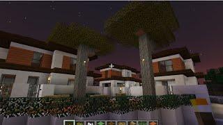 minecraftสอนสร้างบ้านจัดสรร ขนาดกลาง