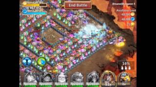 getlinkyoutube.com-Castle Clash Insane Dungeon 5-9 with f2p heroes