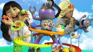 getlinkyoutube.com-アンパンマン ころがれ!ぱっくんコロロン だだんだん おもちゃ anpanman toy セガトイズ