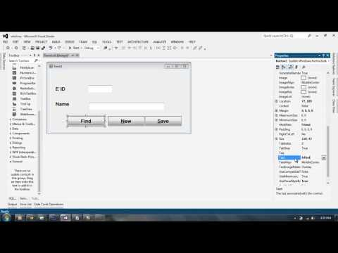Database Connectivity of Visual Basic 2012 with SQLServer part 3