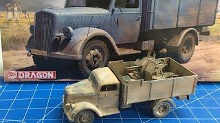 getlinkyoutube.com-Building The Dragon Models 1/35 German 3 ton Truck with 2 cm flak Gun North Africa
