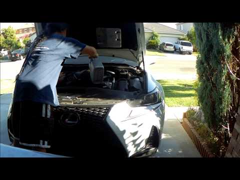 2016-2017 Lexus is200t Fsport Oil and Filter change, oil maintenance reset