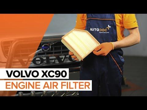 Расположение у Volvo S90 воздушного фильтра