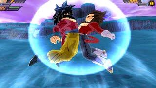 getlinkyoutube.com-Goku SSJ4 and Vegeta SSJ4 Fusion | Vegetto SSJ4 vs Whis & Bills  DBZ Budokai Tenkaichi 3 (MOD)