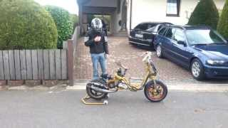 getlinkyoutube.com-R/T Custom Roxy  First Drive MTC Portet  44mm Stage 6 R/T Welle  77ccm Rolller Aerox Scooter