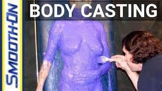 getlinkyoutube.com-Lifecasting Tutorial: Body Casting a Nude Model with Body Double Silicone