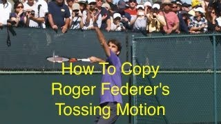 getlinkyoutube.com-Roger Federer Serve Tossing Motion - Tip #1