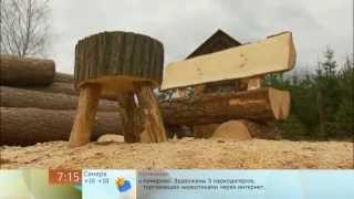 getlinkyoutube.com-Дачная мебель из одного бревна бензопилой