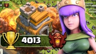 TOWN HALL 7 AT 4000 + TROPHIES IN CLASH OF CLANS!!? PROOF! INSANE TH7 AT CHAMPS!!?? (SAVAGE SEVEN)