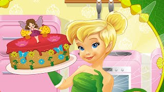 getlinkyoutube.com-Tinker Bell Cooking Fairy Cake ♥ Disney Princess Cooking Video Game for Kids
