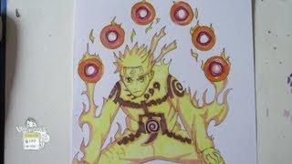 getlinkyoutube.com-How to draw Naruto Kyuubi mode ナルト
