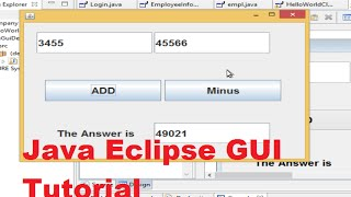 getlinkyoutube.com-Java Eclipse GUI Tutorial 1 # Creating  First GUI Project in Eclipse