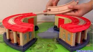 getlinkyoutube.com-Disney Chuggington Double Decker Roundhouse playset Wooden Railway by Blu Toys Surprise Baby Toys