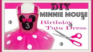 getlinkyoutube.com-How to make a Minnie Mouse Birthday Party Tutu Dress - DIY Tutu Tutorial