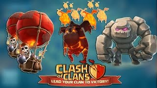 Strategy - 3 Star Town hall 9 (TH9) Attack by GOLALOON/LAVALOON 2015