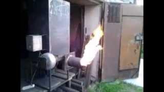 getlinkyoutube.com-Горелка на опилках своими руками. The burner on the sawdust.