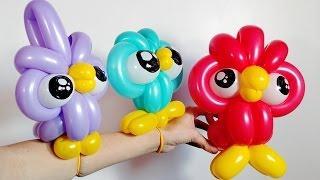 getlinkyoutube.com-Owl Balloons Twisting How To