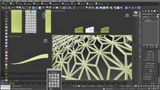 getlinkyoutube.com-Grid structures 02: grid structures built out of 2D surfaces and 3D objects in 3ds max