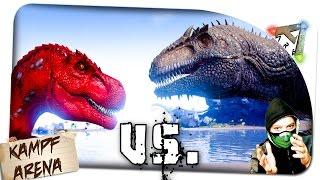 getlinkyoutube.com-Giganotosaurus vs. Alpha-Rex | Kampf Arena ✪ Ark Survival Evolved German Deutsch | ARK SE