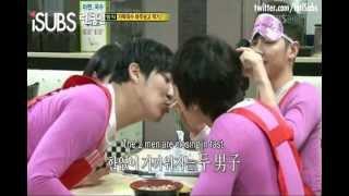 Kim Jong Kook & HaHa lip kiss (VERY FUNNY) (ENG SUB)