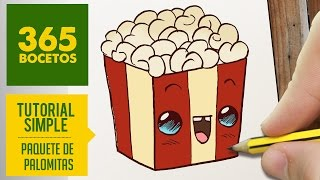 getlinkyoutube.com-COMO DIBUJAR UNAS PALOMITAS KAWAII PASO A PASO - Dibujos kawaii faciles - How to draw a popcorn