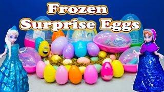 getlinkyoutube.com-FROZEN Disney Frozen Elsa Giant Surprise Eggs a  Surprise Eggs Toys Video