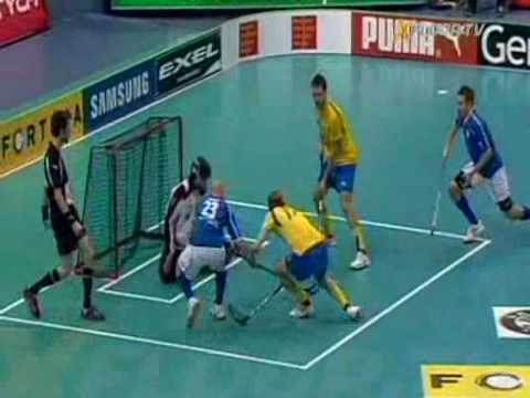 World Floorball Championships 2008 Finals: Sweden vs Finland 6-7sd