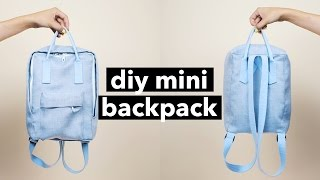 getlinkyoutube.com-DIY Mini Backpack From Scratch! (Fjällräven Kånken style)